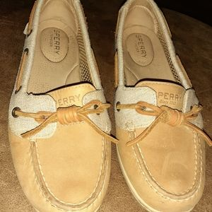Sperry Leather and Canvas Loafers